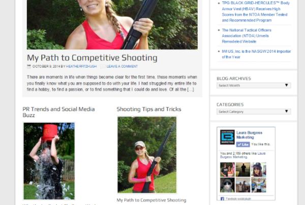 Laura Burgess Marketing Blog Screen Shot