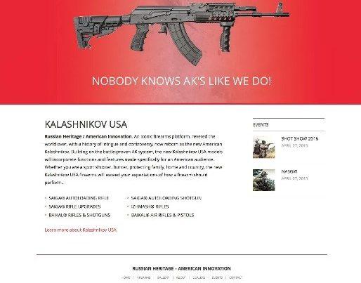 Kalashnikov USA Website