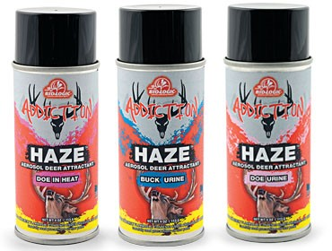Mossy Oak BioLogic's Addiction HAZE Aerosol Attractants with Deer Urine Most Effective Method to Attract Deer and Cover Human Scent