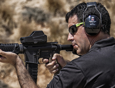 CEO and Co-Founder Lt. Col. (Ret.) Mikey Hartman of the IDF and MH1 Red Dot Reflex Sight.
