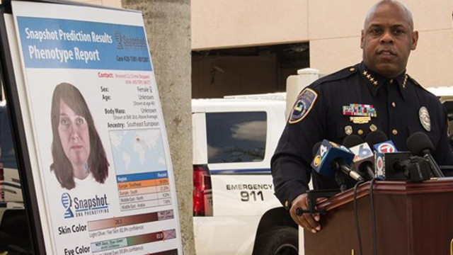 Hallandale Beach Police Chief Dwayne Flournoy unveils DNA Phenotyping composite of suspect in Hallandale Beach condo double murders.