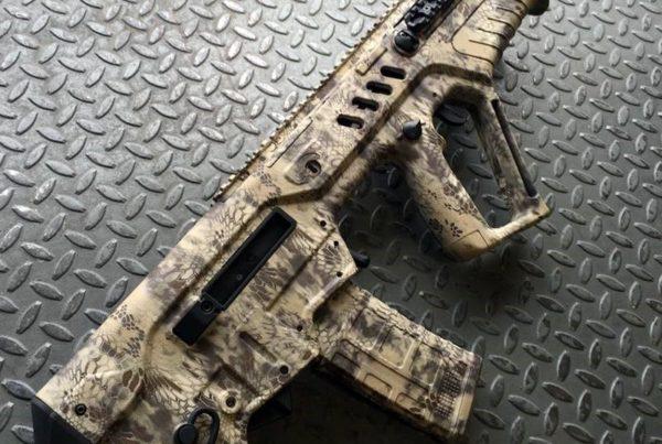 Robert Wagner, Winner of the LBM $6,000 Gun & Gearaway's, Kryptek™ Camo dipped TAVOR®.