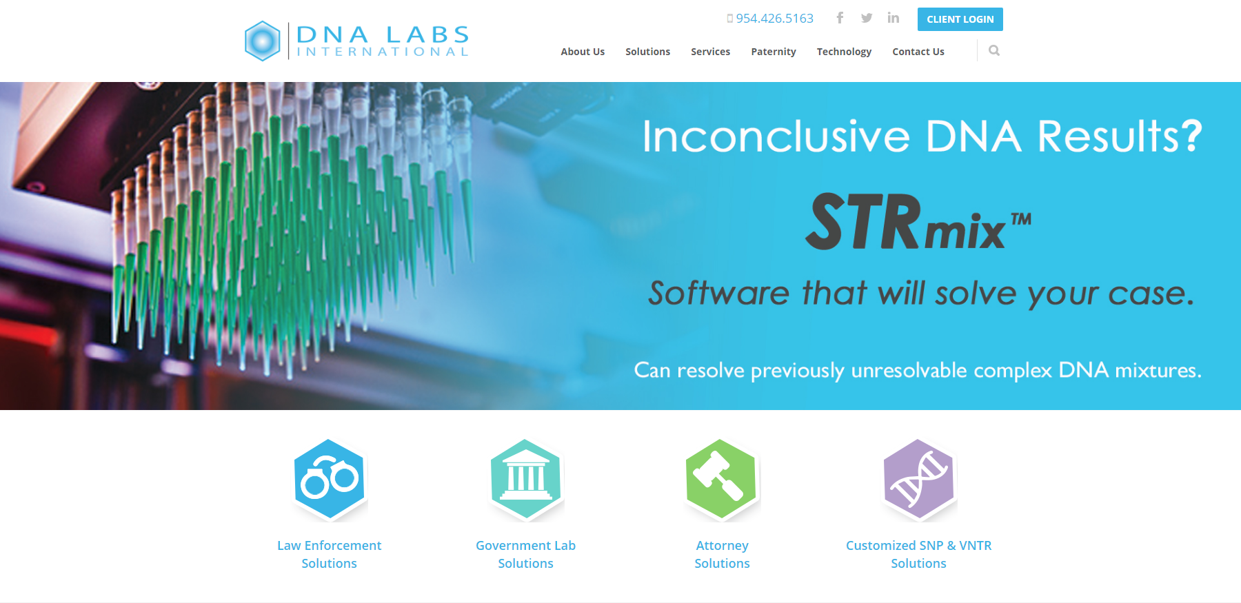 DNA Labs International Launches New Website