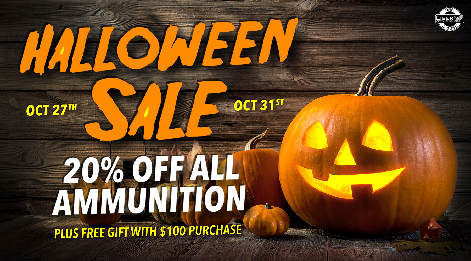 Liberty Ammunition Offers Halloween Sale