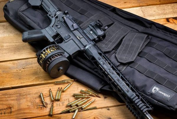 Slide Fire equipped rifle