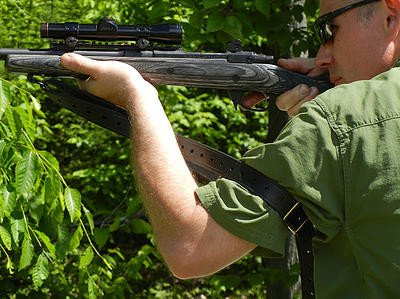 The popular Rhodesian Sling in use.