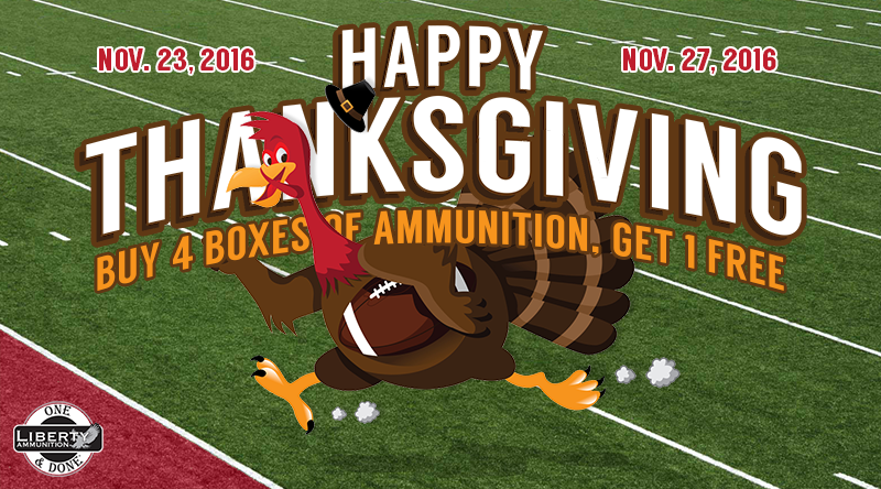 Liberty Ammunition to Hold Thanksgiving Sale