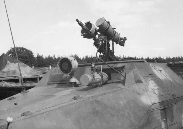 German WWII night vision device on top of tank