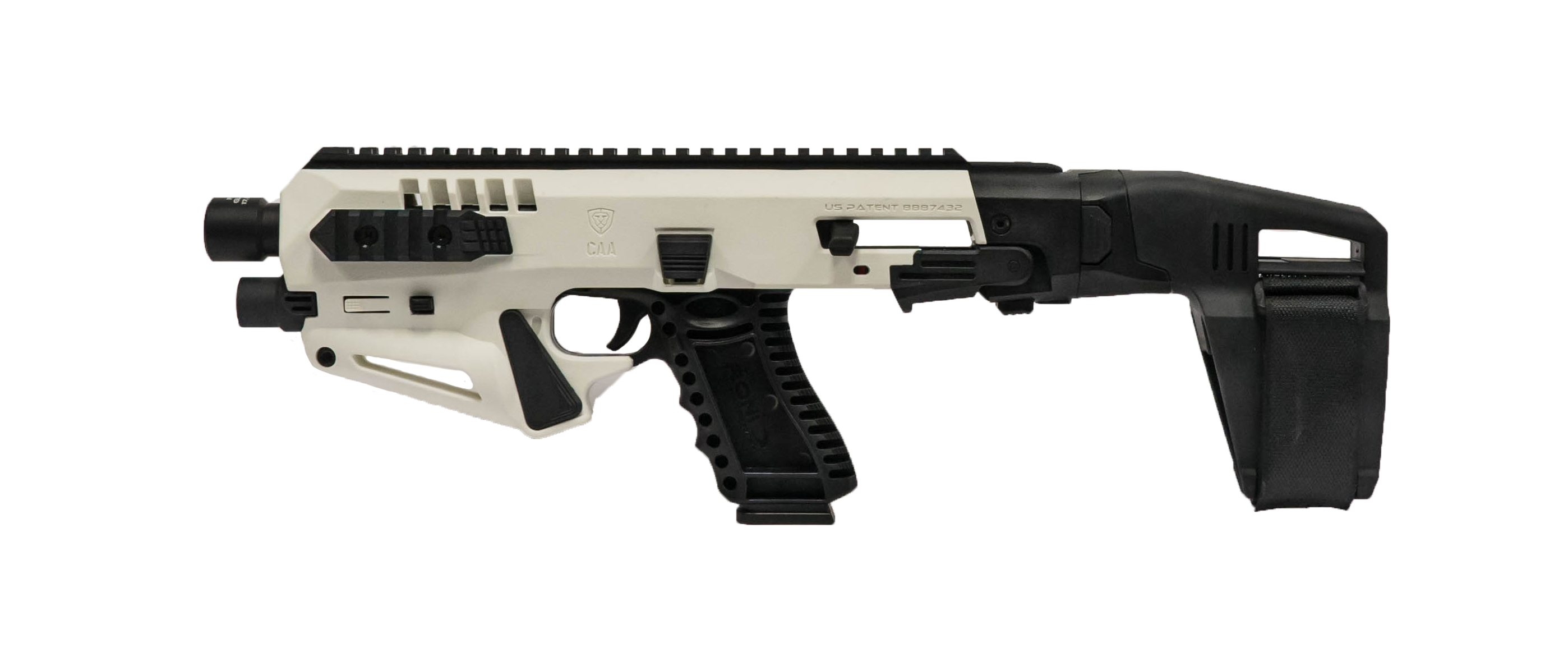 LIMITED EDITION White Micro RONI® Stabilizer Pistol Conversion Model – No NFA Paperwork, No Tax Stamp, or No Wait Period