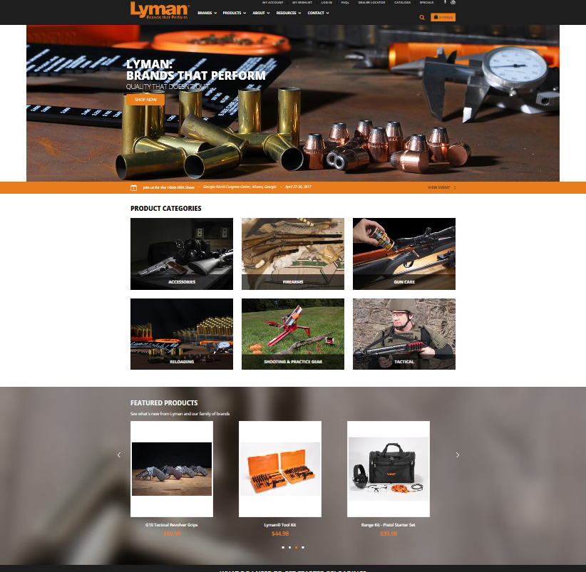 Lyman® Products Launches New Website