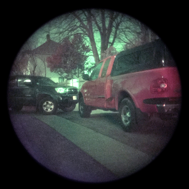 Truck, now visible as a Red Truck, seen through the addition of the CVA-14 ColorTAC adaptor