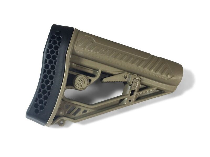Adaptive Tactical's Popular EX Performance Stock for AR15/AR10 Carbines Now Available in Flat Dark Earth (FDE)