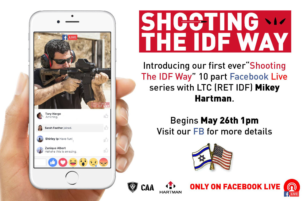 "CAA Announces 10-Part Facebook Live Series ""Shooting the IDF Way!"""