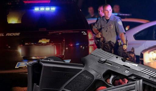 Police Lights and Gun