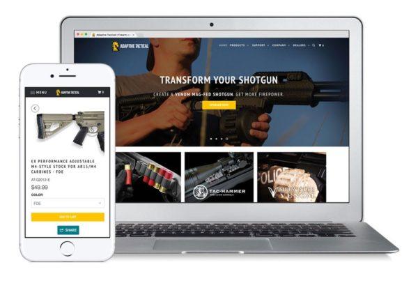 Adaptive Tactical New Website Screenshot