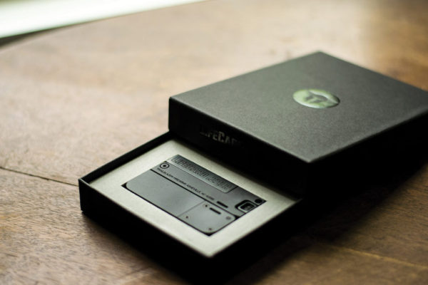 The LifeCard packaging