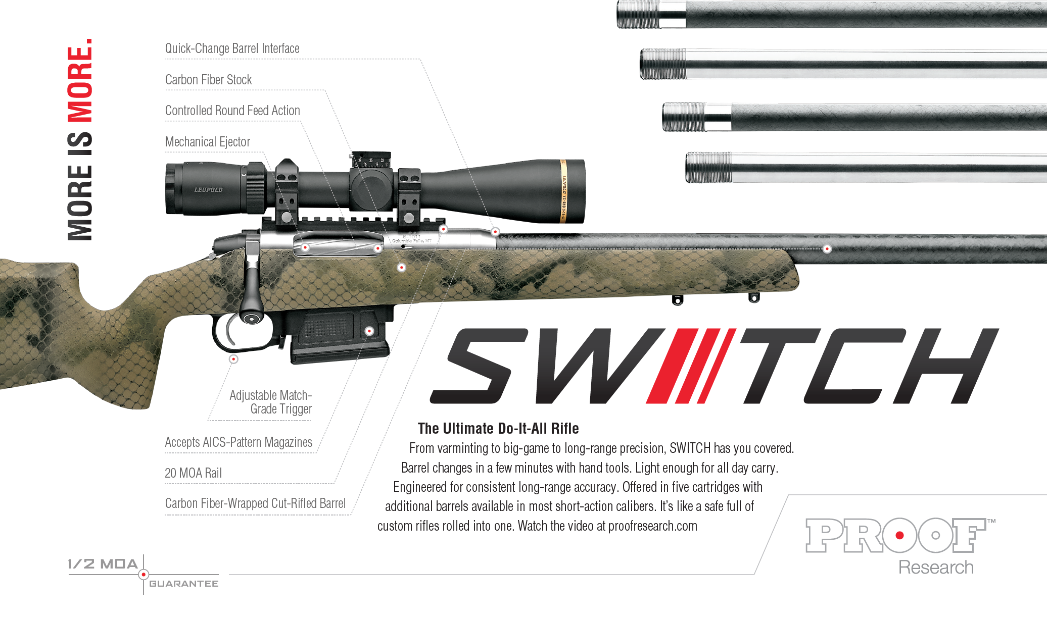 PROOF Research's Switch™ Rifle is a Do-Anything, Go-Anywhere Long-Range Package