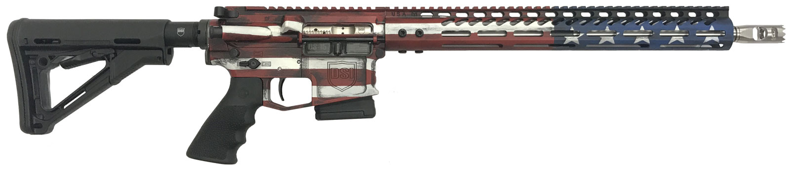 "DS-15 Signature Series ""Freedom Flag"" 5.56 Fixed Mag Rifle"