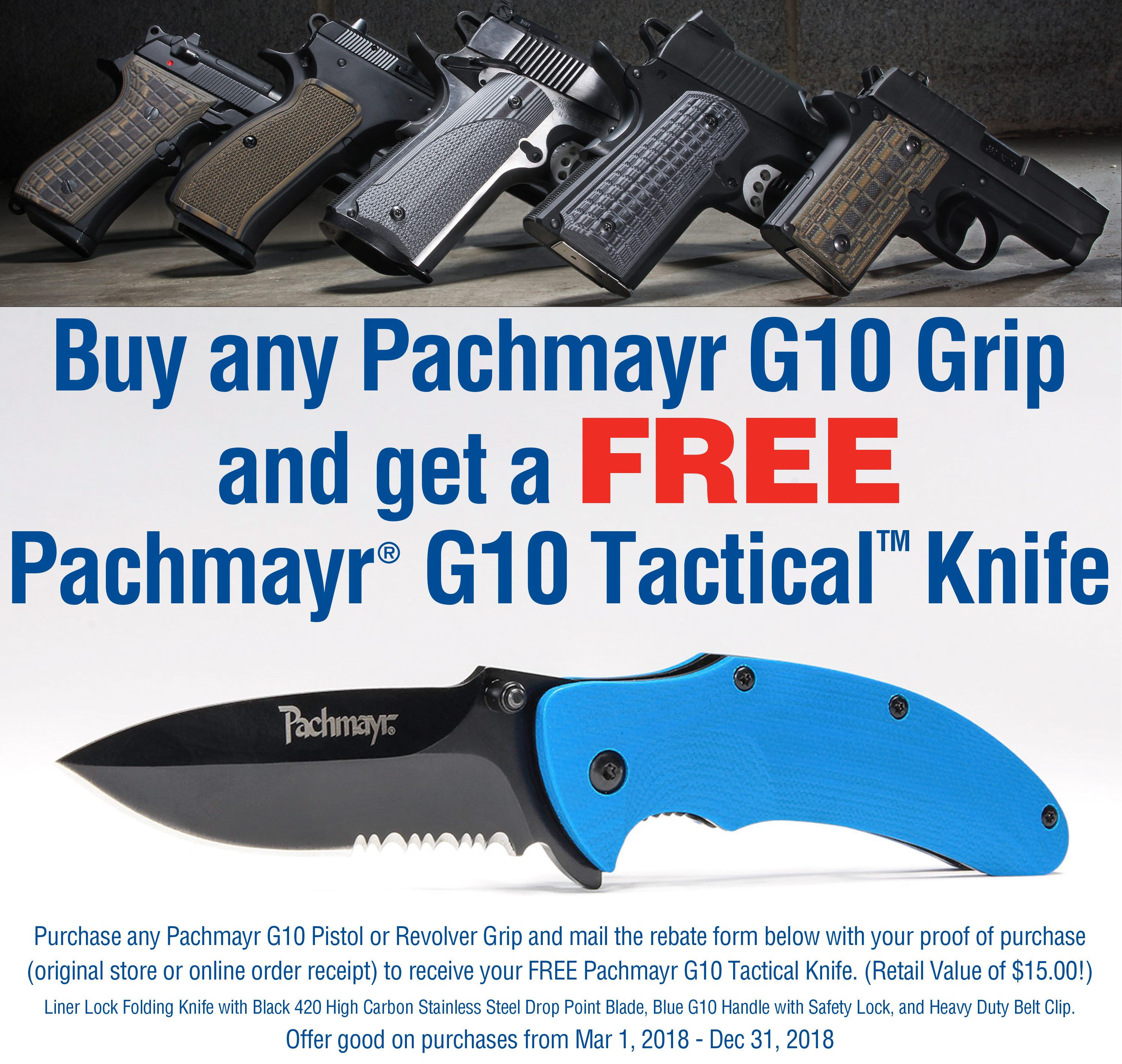 Lyman® Products Pachmayr® G10 Knife, Mail in Rebate, Going on Now Until End of Year