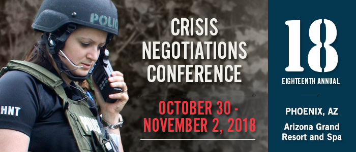 The National Tactical Officers Association Announces Dates and Location for 18th Annual Crisis Negotiations Conference