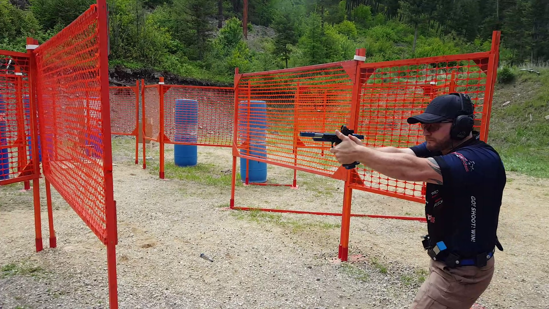John Vlieger competing at the 2018 Berry's USPSA Area 1 Championship.