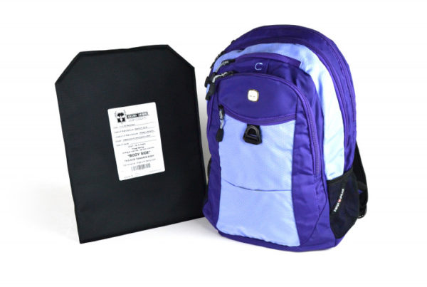 Ammunition Depot SwissGear Travel Backpack with Hybrid IIIA Soft Armor in Lilac.