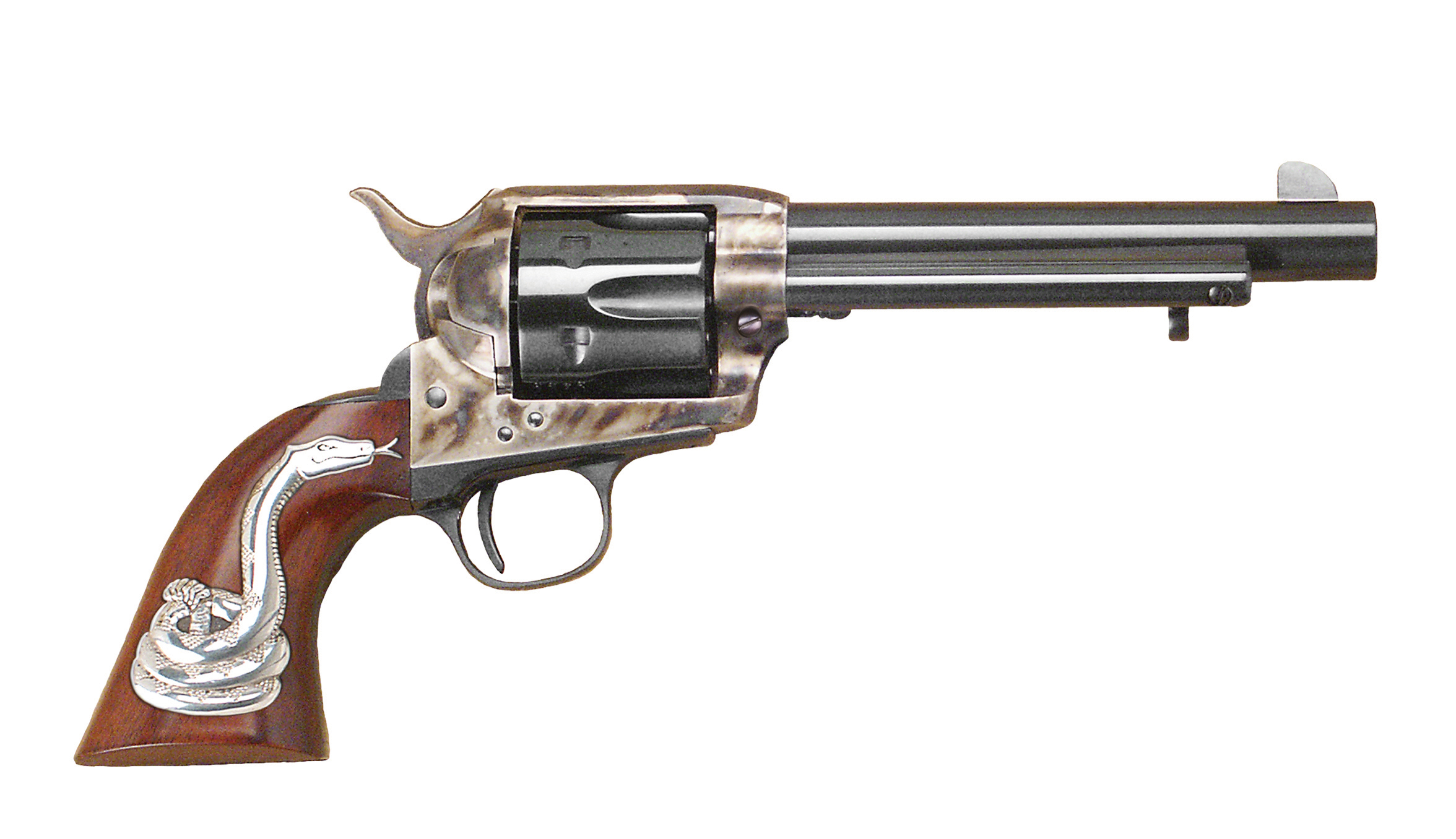 "Cimarron Firearms ""Man with No Name"" 5.5"" barrel, .45 LC with Snake"