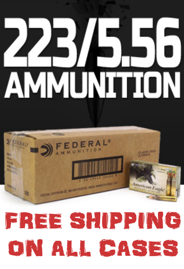 Go Case Crazy! Free Shipping on all Cases of .223/5.56 Ammo Until Oct. 31, 2018