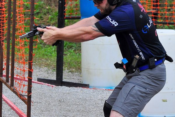 Sponsored Shooter John Vlieger competing at the 2019 Cheely Custom Gunworks USPSA Area 5 Championship.