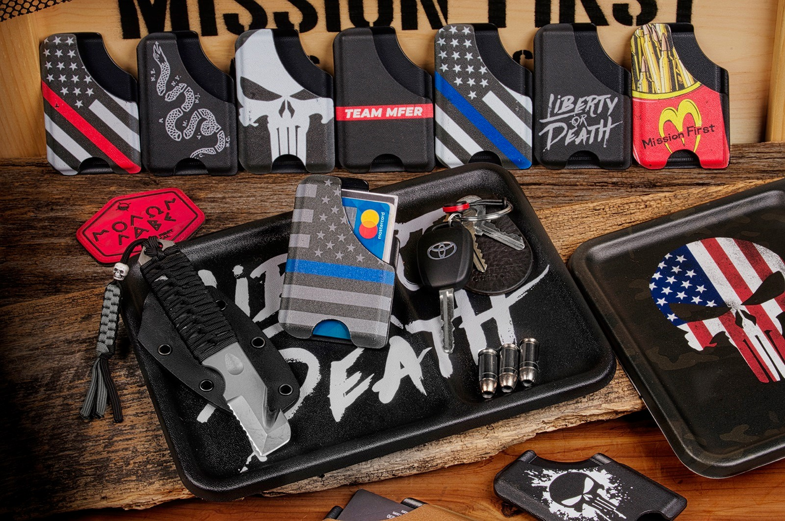 Mission First Tactical (MFT) Introduces New Decorated Wallets and Dump Trays