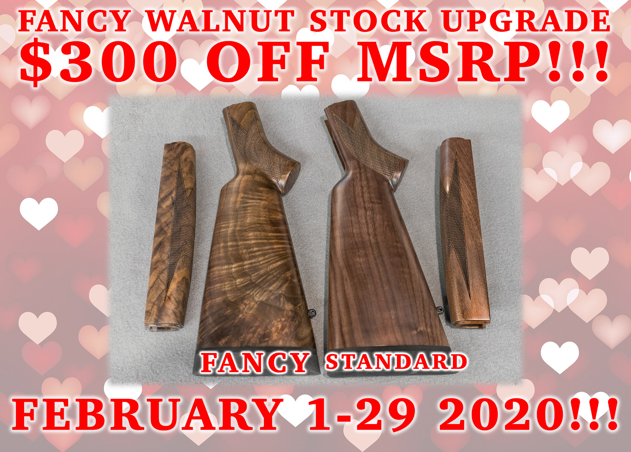 Big Horn Armory Unveils Half Price Special on all Fancy Walnut Stocks