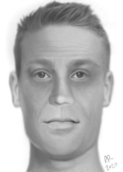 Forensic depiction of Charleston, MO John Doe Image credit: Anthony Redgrave