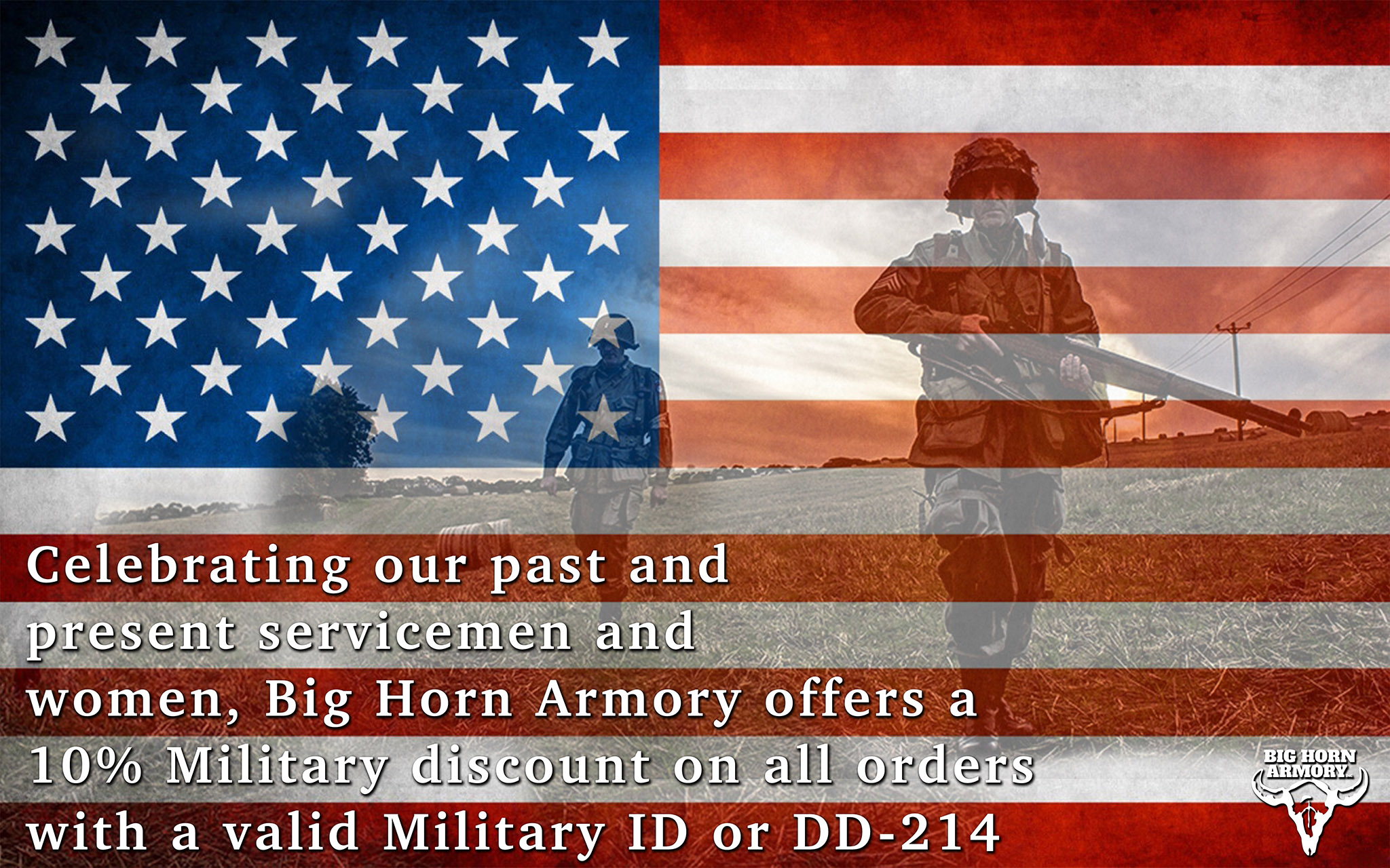 Big Horn Armory (BHA) Honors America's Armed Forces with Military Discount