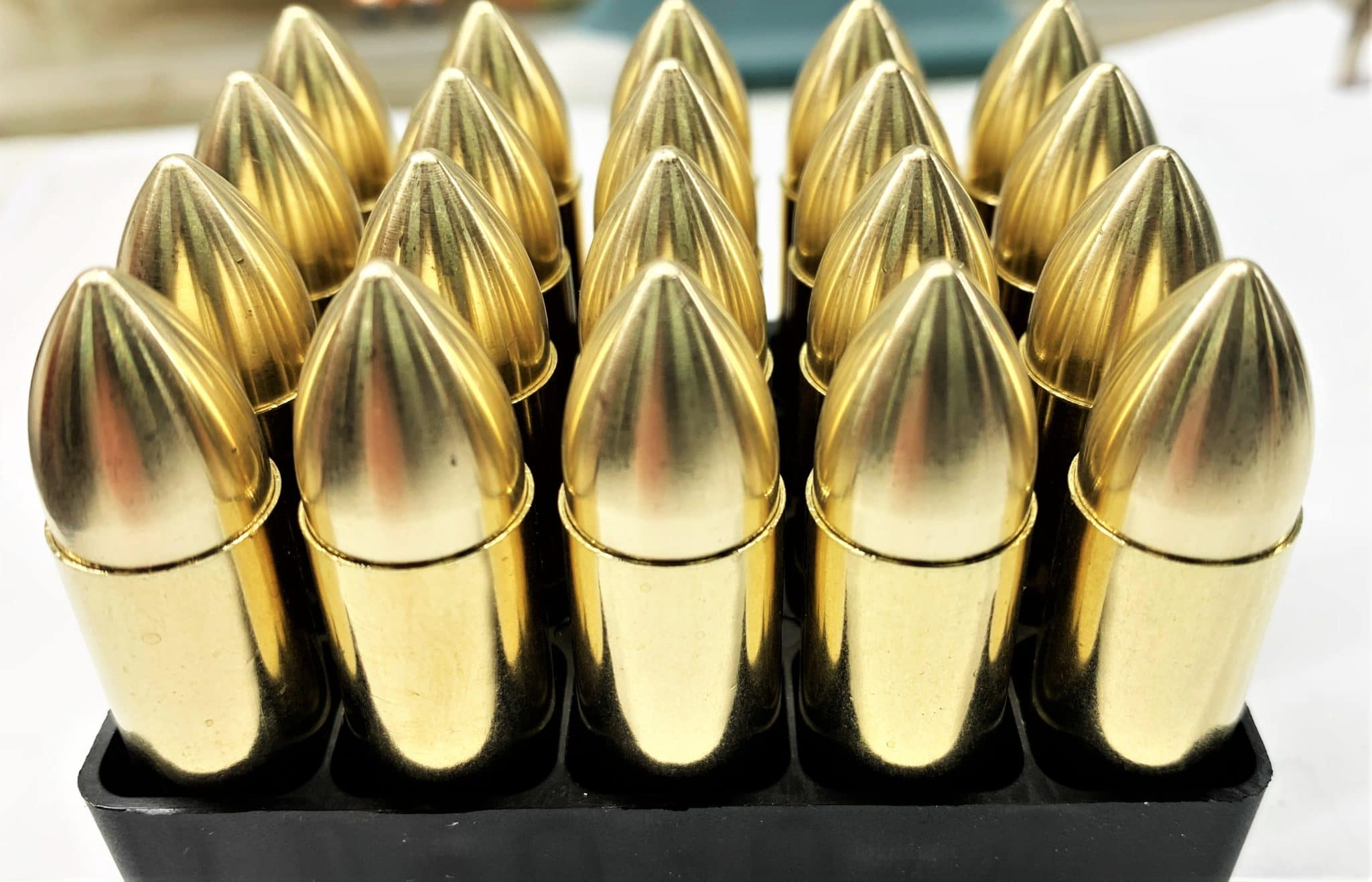 Steinel Ammunition Brass Spike Ammo for .50 Beowulf Uppers Now Available