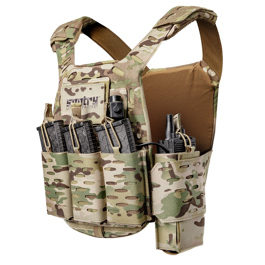 SENTRY Tactical Gunnar Series Plate Carrier featuring 1080-2 Molle/PALS System